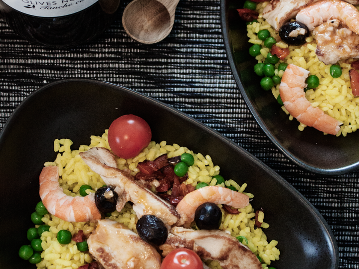 Le riz nomade: la salade comme une paella