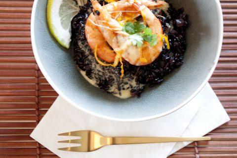 table_de_fete_risotto_crevettes_riz_venere_ricemeup_recette