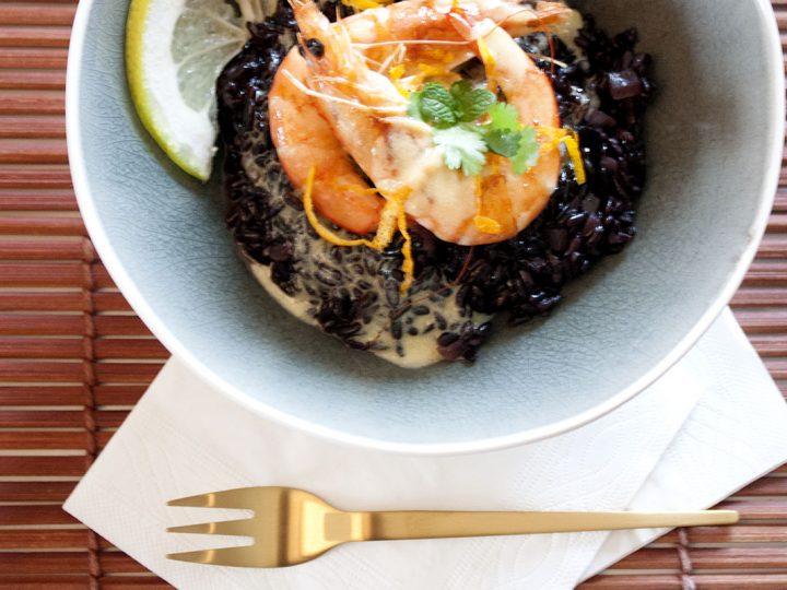 Réaliser un risotto de fête avec du riz noir