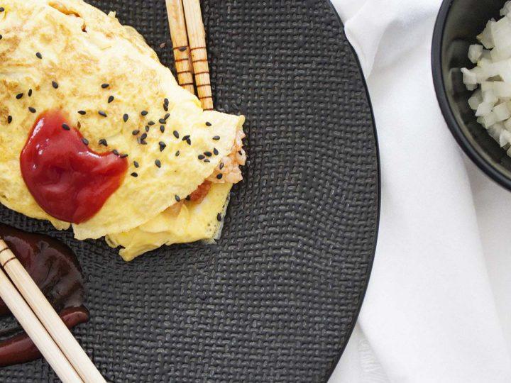 Recette japonaise facile: l'ome-rice